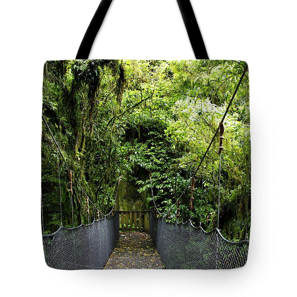 Dense Tote Bag featuring the photograph Swingbridge by Les Cunliffe