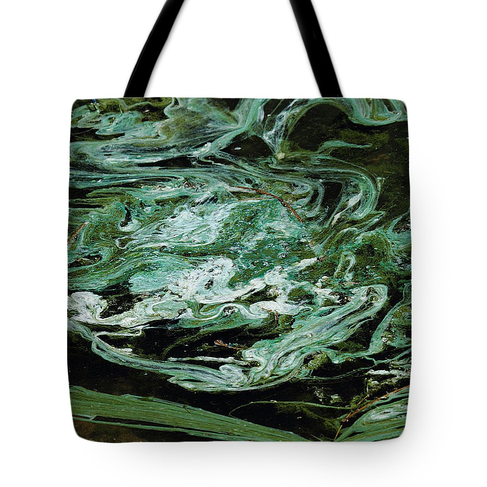 Nature Tote Bag featuring the photograph Swirling Algae by David Salter