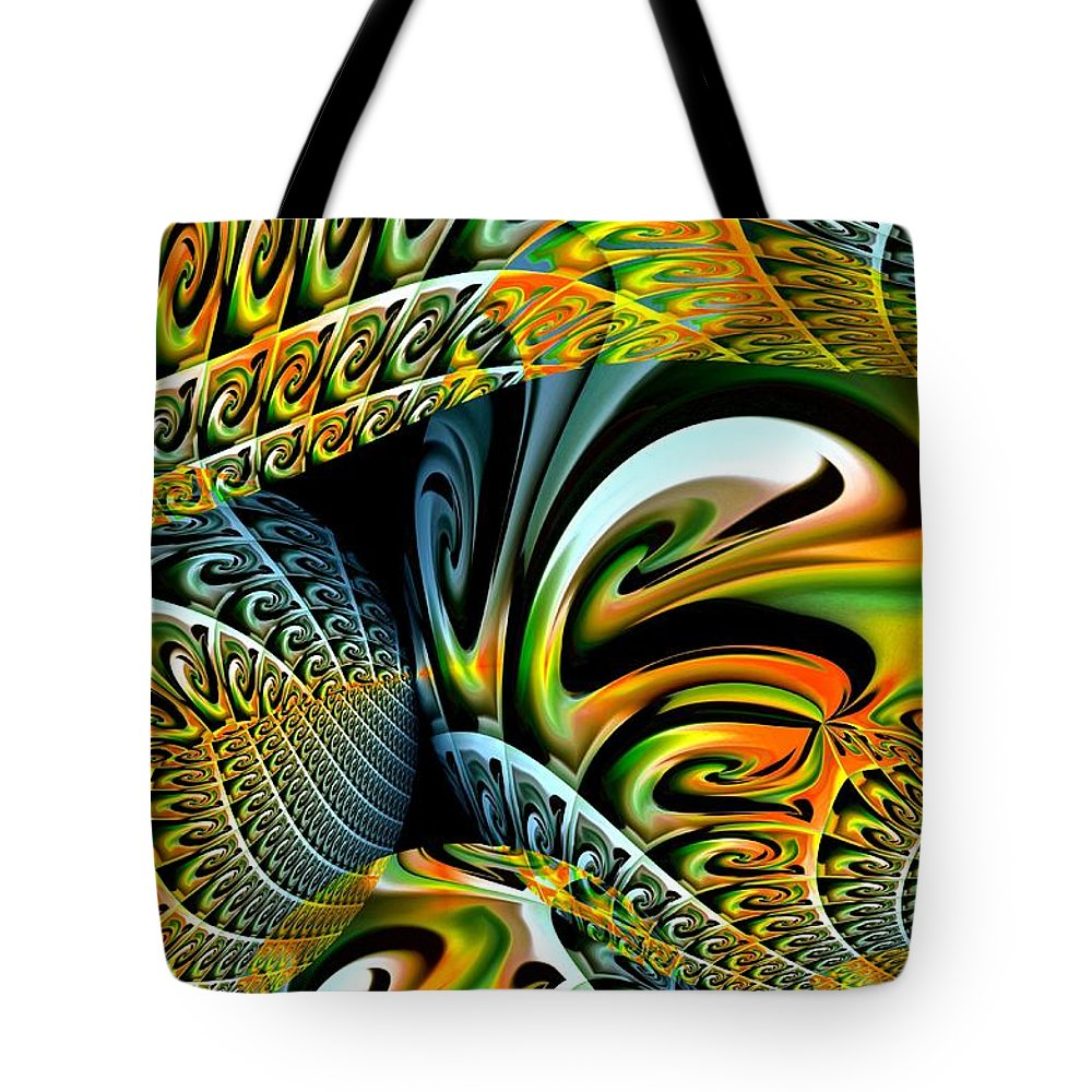 Swirls Tote Bag featuring the digital art Swirling Colors by Maria Urso