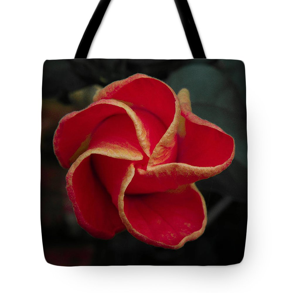 Flower Tote Bag featuring the photograph Swirling Star by Trish Tritz
