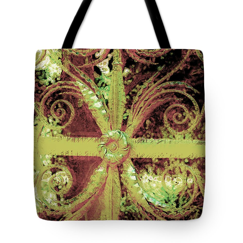 Iron Gate Tote Bag featuring the photograph Sword Gate by Donna Bentley