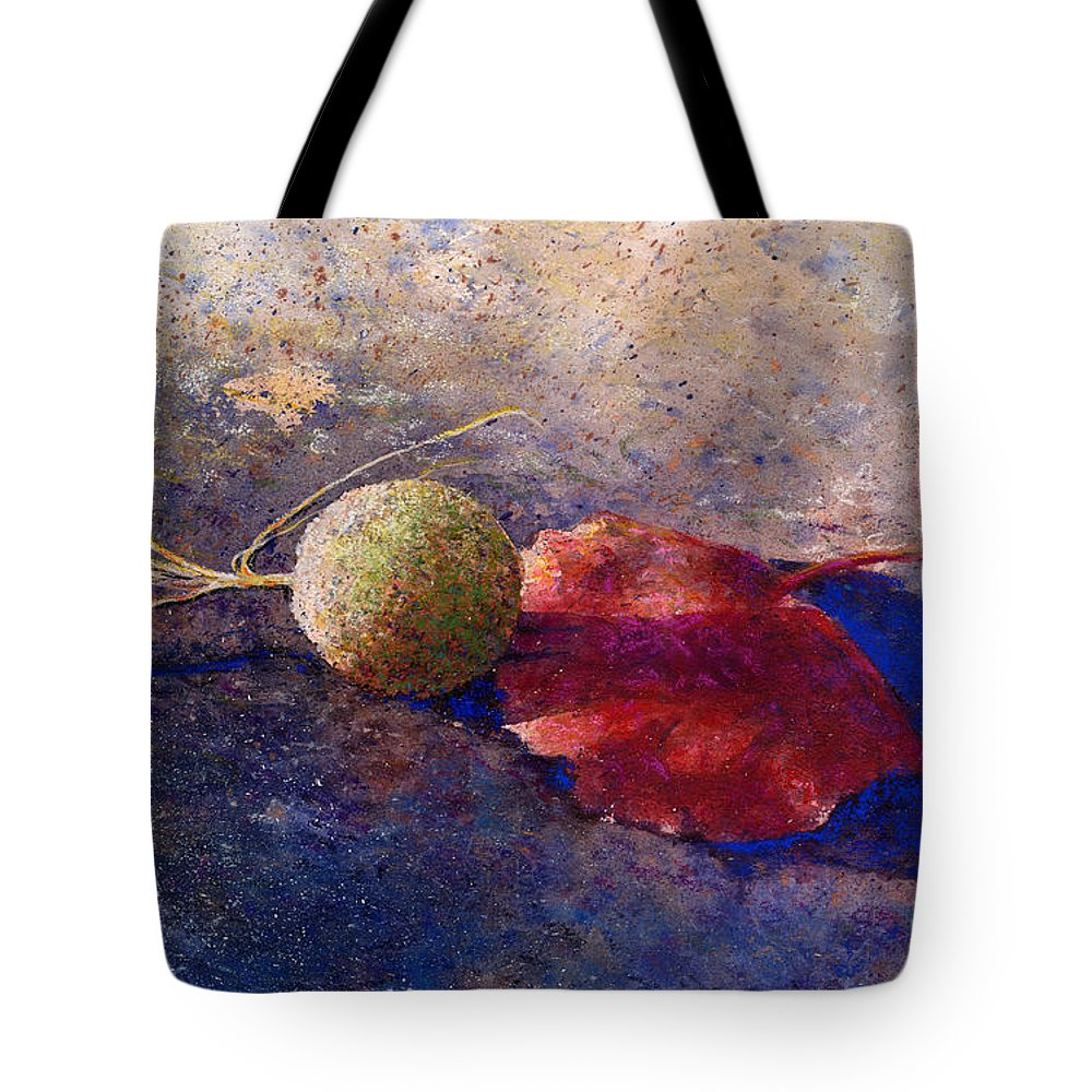 Sycamore Tote Bag featuring the painting Sycamore Ball And Leaf by Andrew King