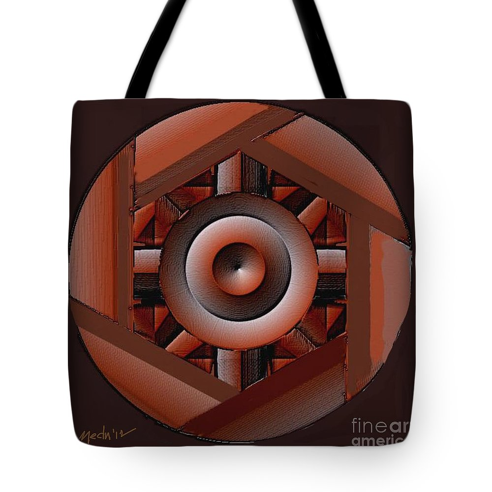 Paintings Tote Bag featuring the painting Symmetrica 217 by Nedunseralathan R