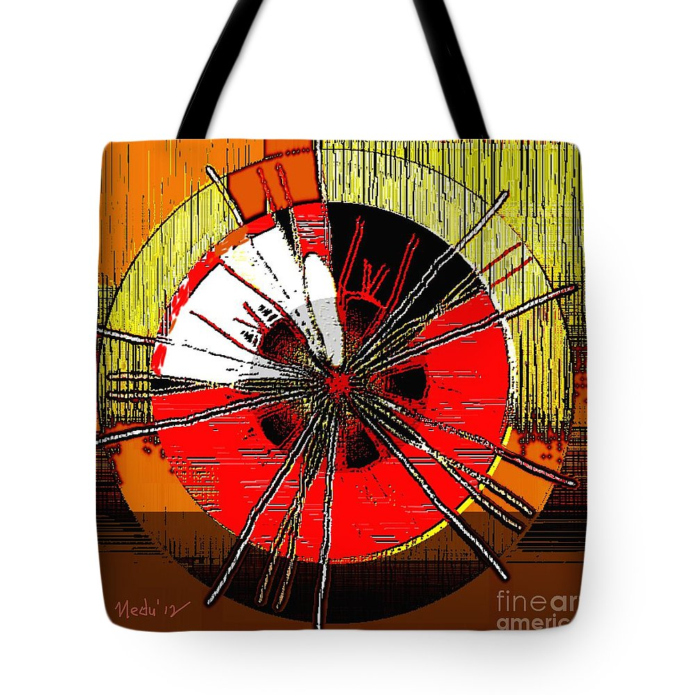 Paintings Tote Bag featuring the painting Symmetrica 226 by Nedunseralathan R