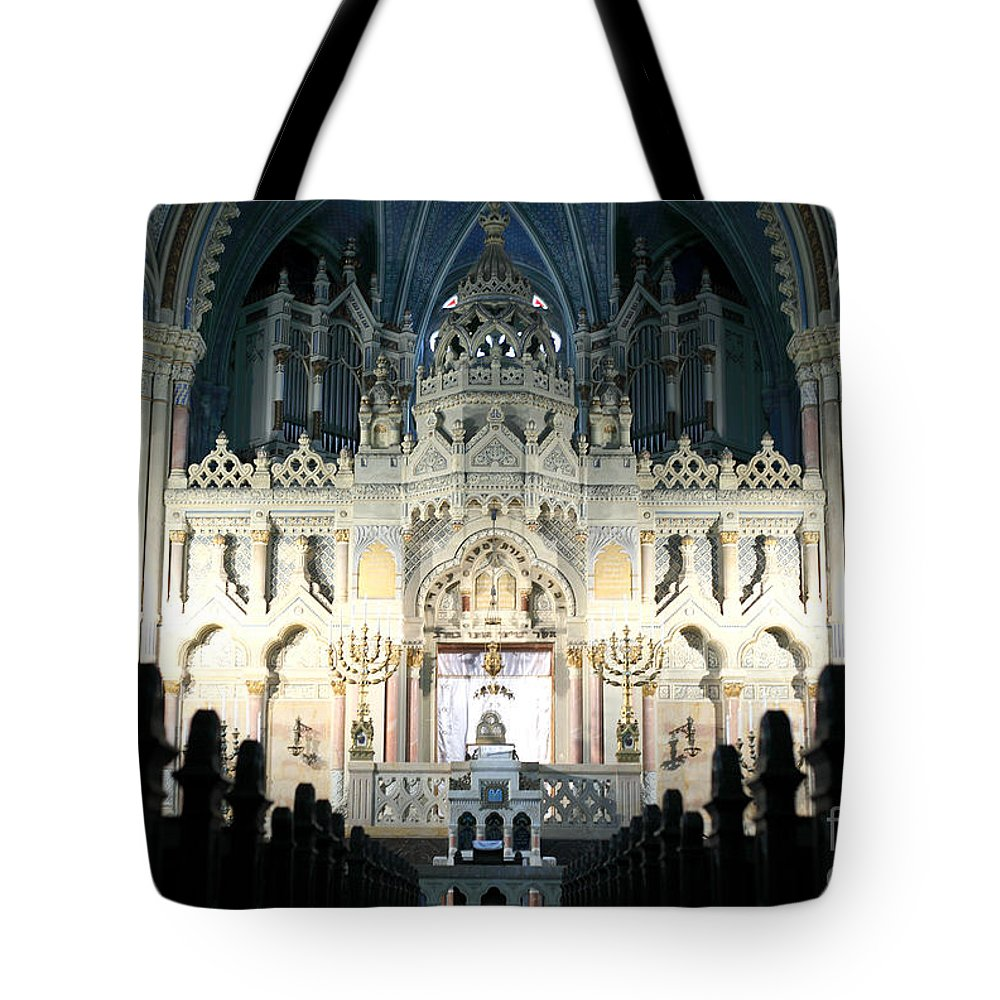 Synagogue Tote Bag featuring the photograph Synagogue by Milena Boeva