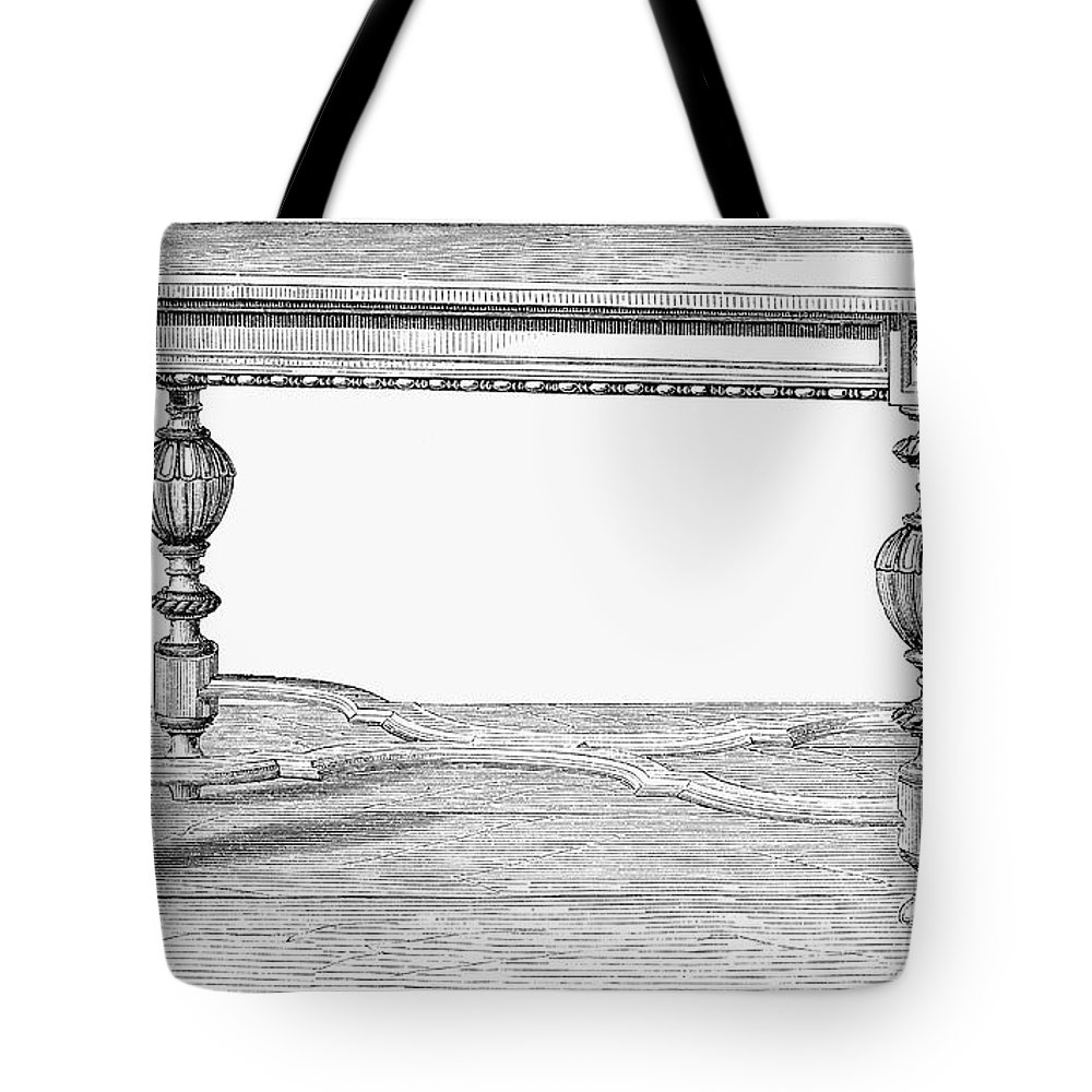 19th Century Tote Bag featuring the photograph Table, 19th Century by Granger