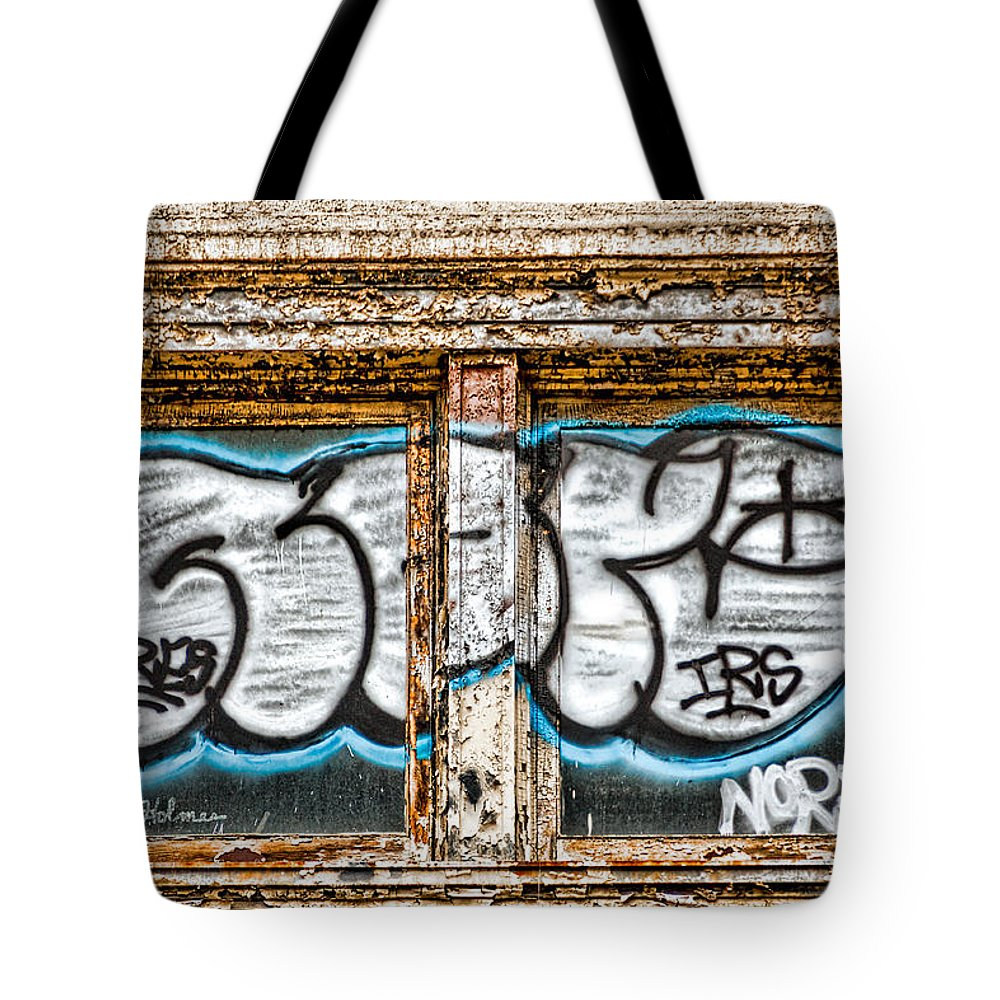 Window Tote Bag featuring the photograph Tagged Window by Christopher Holmes
