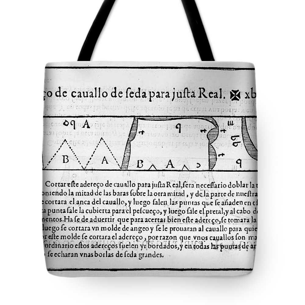 1589 Tote Bag featuring the photograph Tailors Pattern Book, 1589 by Granger