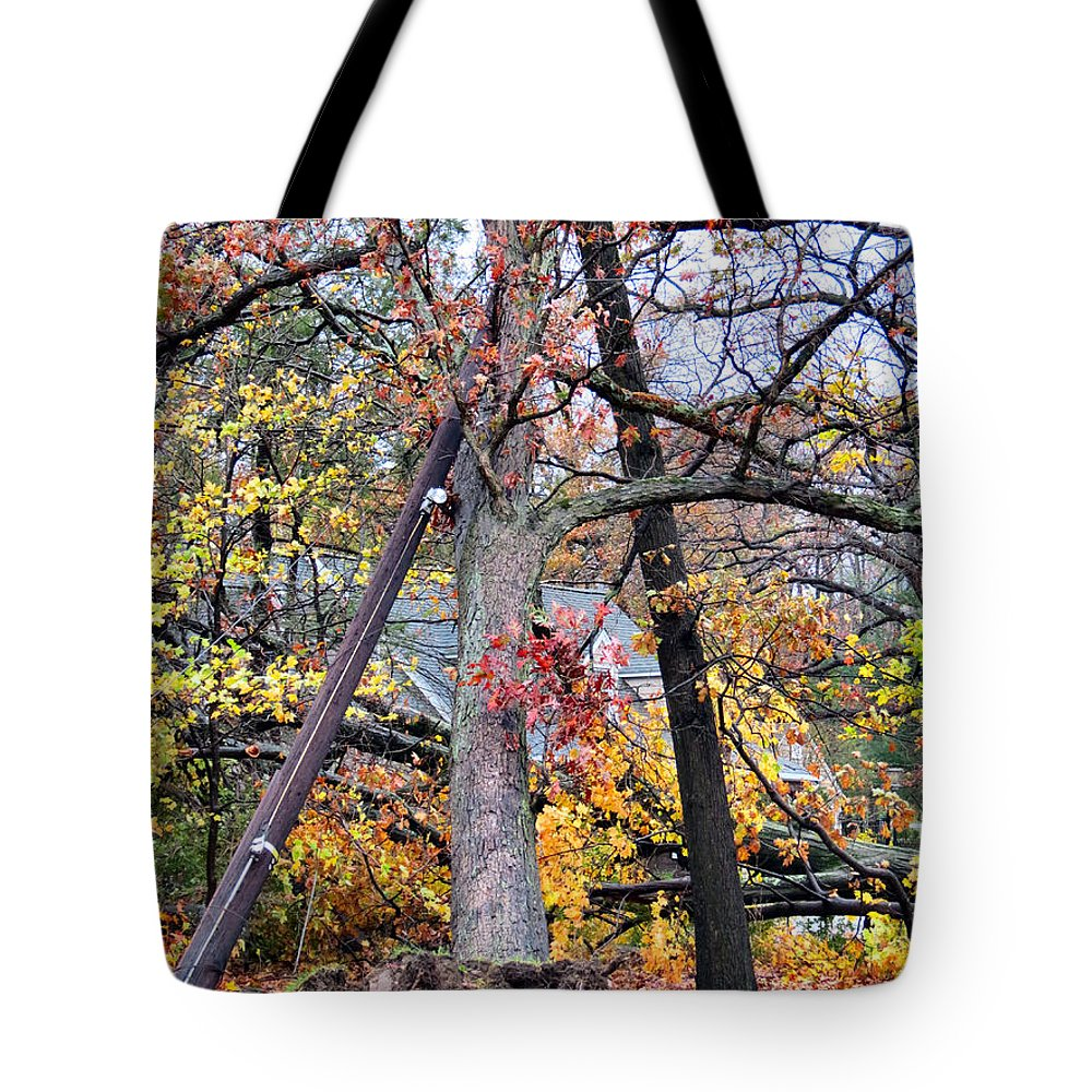 Wind Tote Bag featuring the photograph Take Down by Art Dingo