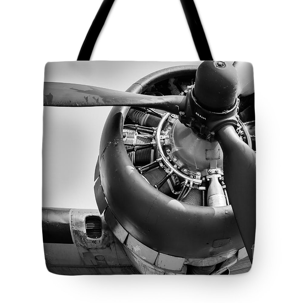 Airplane Tote Bag featuring the photograph Take-off by Ken Marsh