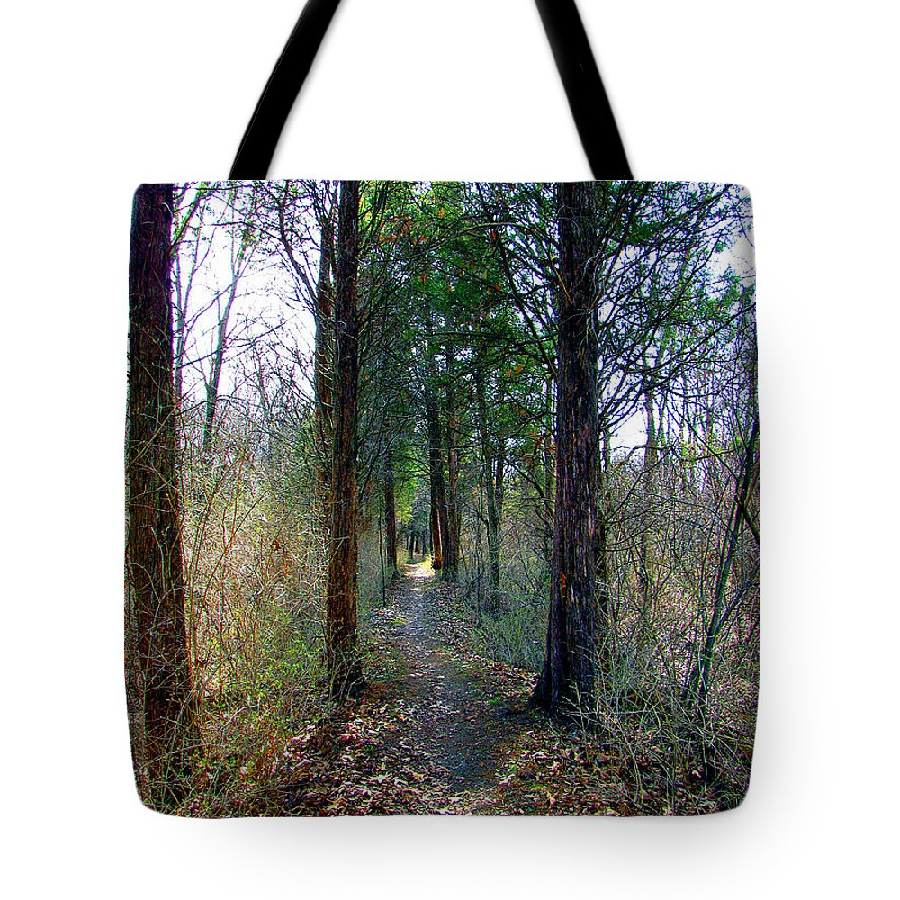 Trails Tote Bag featuring the photograph Taking The Long Trail by Marie Jamieson