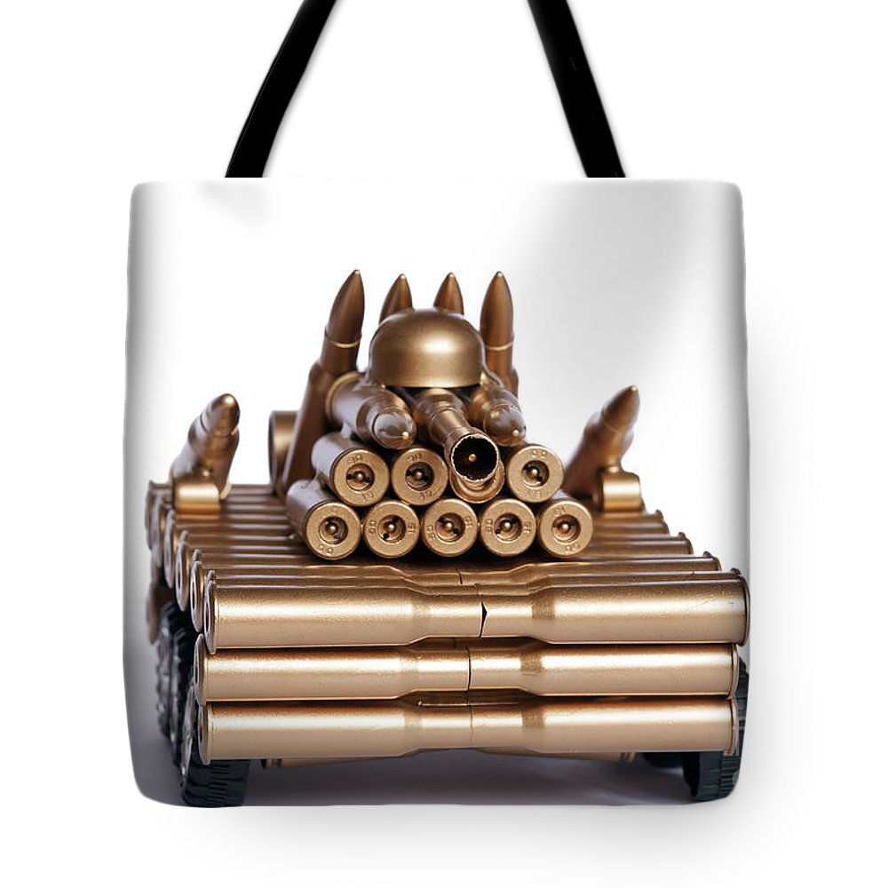 Modelling Tote Bag featuring the photograph Tank From Shells by Michal Boubin
