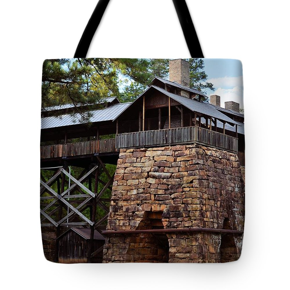 Tannehill Tote Bag featuring the photograph Tannehill Furnaces 2012 by Maria Urso