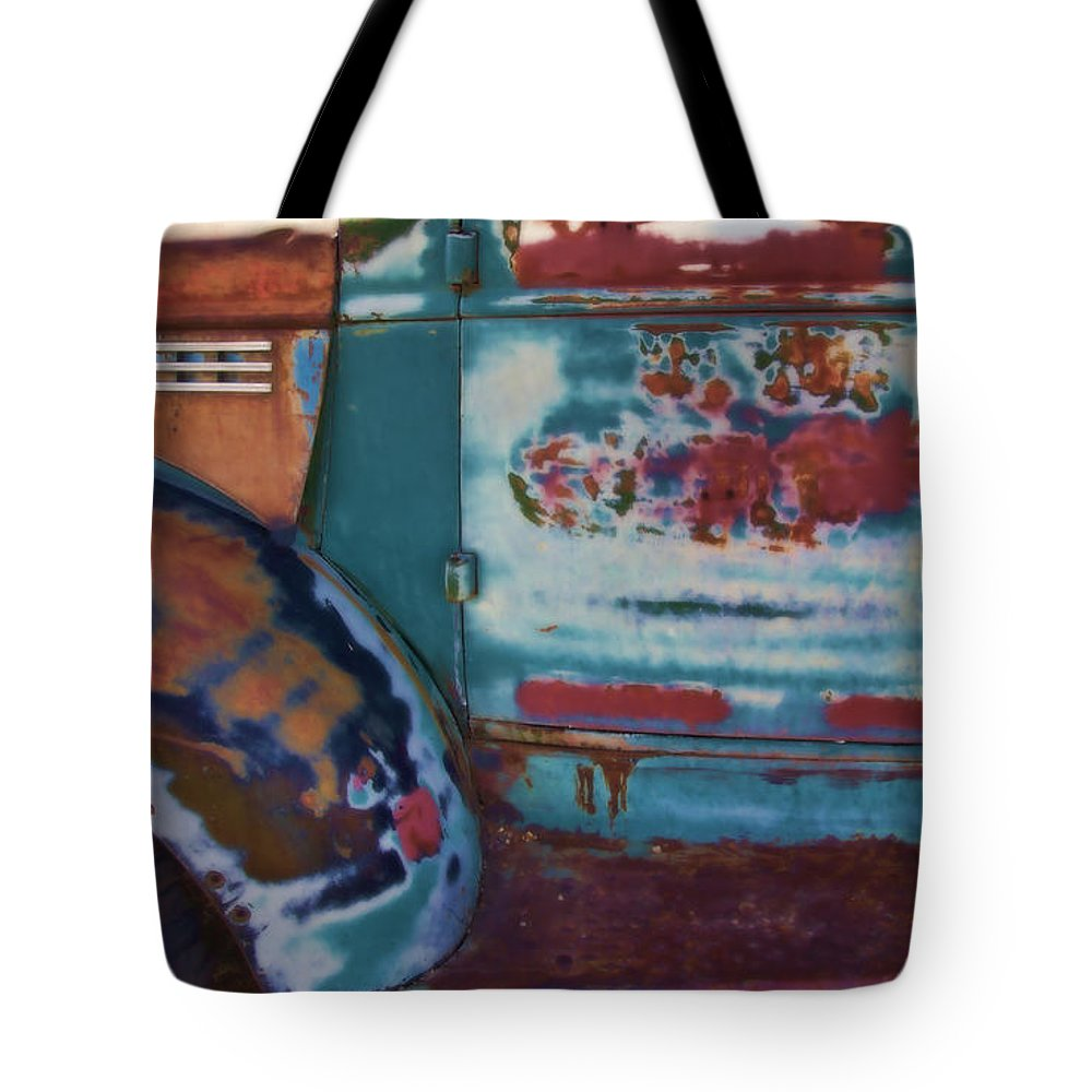 Truck Tote Bag featuring the photograph Taos Truck 2 by John Hansen