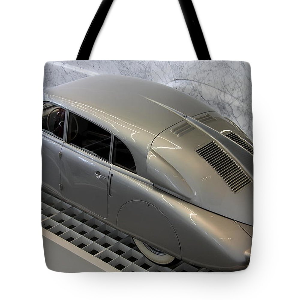 Oldtimer Tote Bag featuring the photograph Tatra T 87 by Christiane Schulze Art And Photography