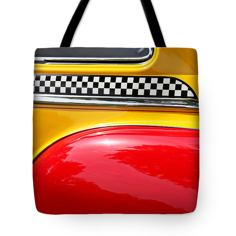 Taxi Tote Bag featuring the photograph Taxi 1946 Desoto Detail by Garry Gay