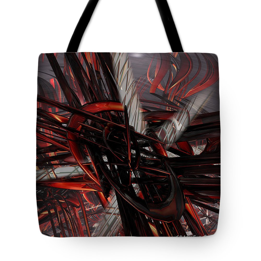 Canvas Tote Bag featuring the digital art Technic Abstract Fx by G Adam Orosco