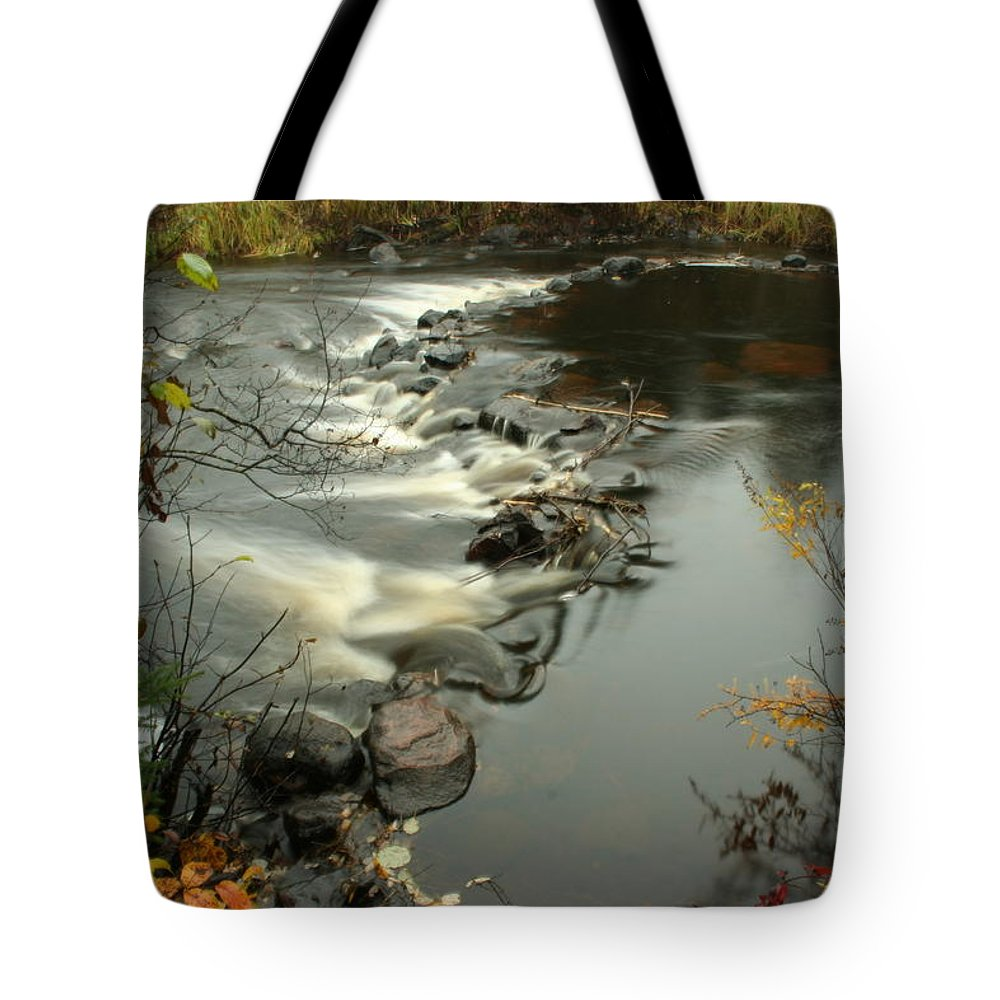 Tote Bag featuring the photograph Temperance River Campground View by Joi Electa