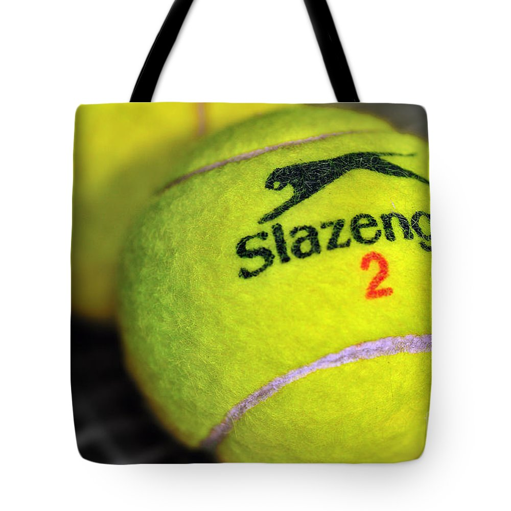 Photography Tote Bag featuring the photograph Tennis Balls by Kaye Menner