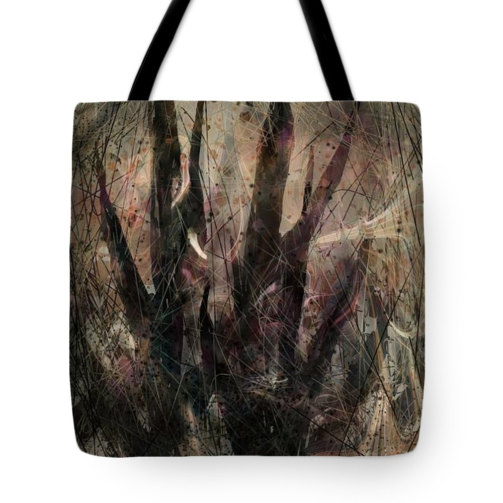 Landscape Tote Bag featuring the digital art Tequila Sunrise by William Russell Nowicki