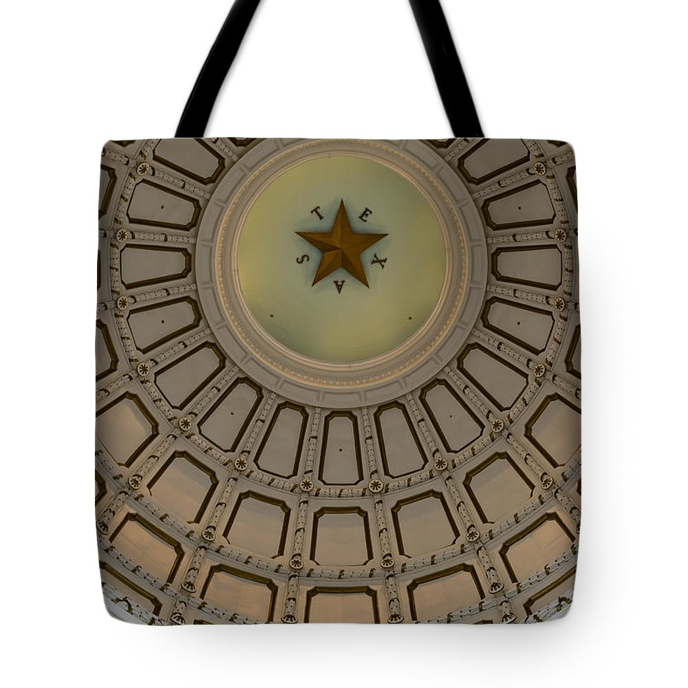 Austin Tote Bag featuring the photograph Texas Capitol Star by Ed Gleichman