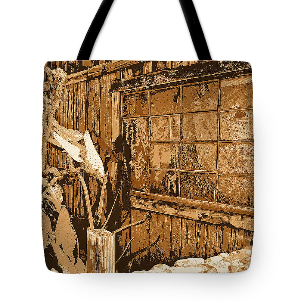 Old West Tote Bag featuring the photograph Textures by Diane montana Jansson