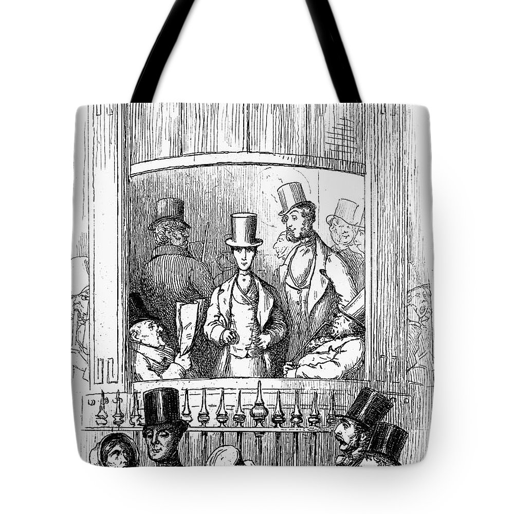 1855 Tote Bag featuring the photograph Thackeray: Newcomes, 1855 by Granger