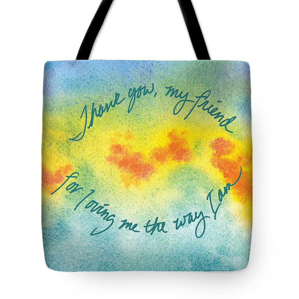 Tote Bag featuring the painting Thank You by Tara Moorman