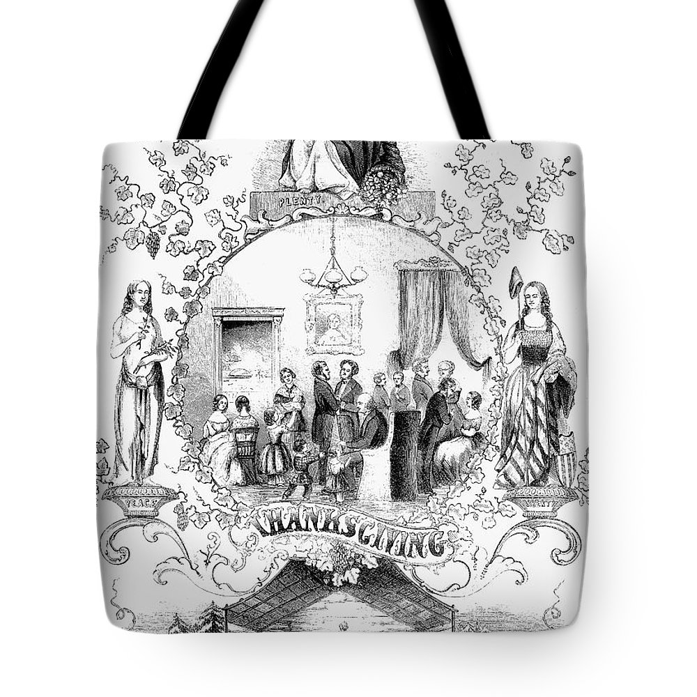 1852 Tote Bag featuring the photograph Thanksgiving, 1852 by Granger