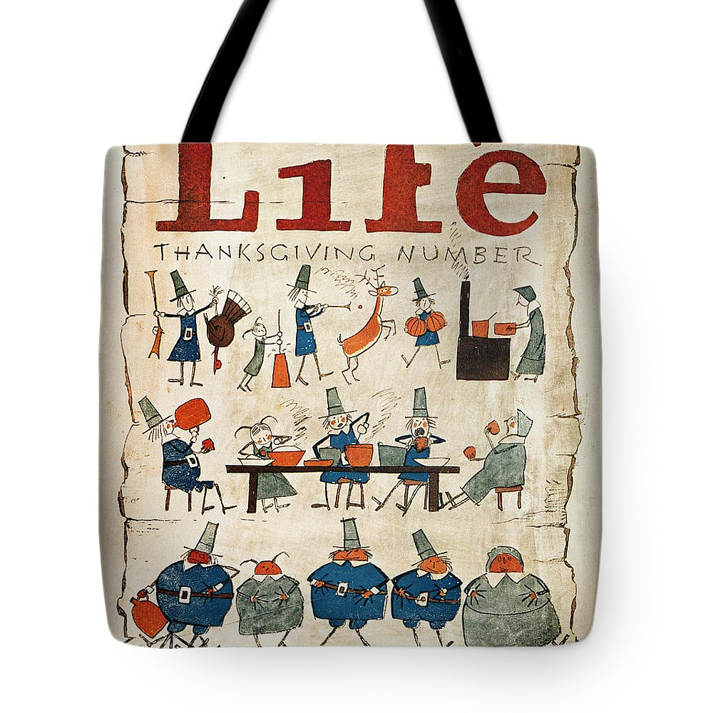 1621 Tote Bag featuring the photograph Thanksgiving, 1924 by Granger