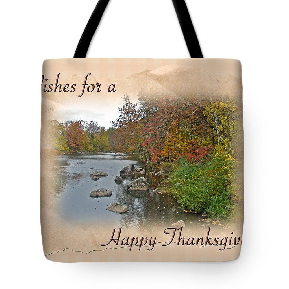 Thanksgiving Tote Bag featuring the photograph Thanksgiving Greeting Card - Autumn Creek by Mother Nature