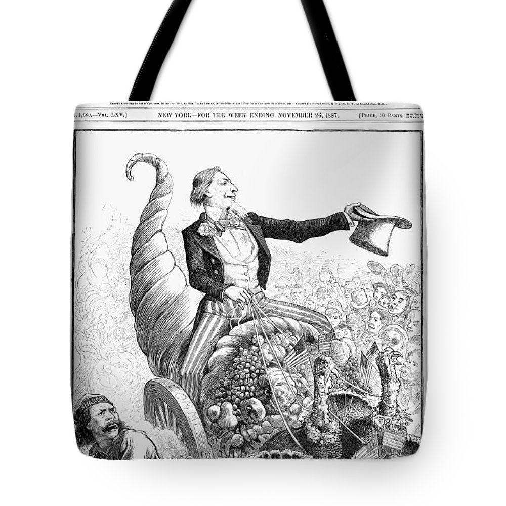 1887 Tote Bag featuring the photograph Thanksgiving Parade, 1887 by Granger