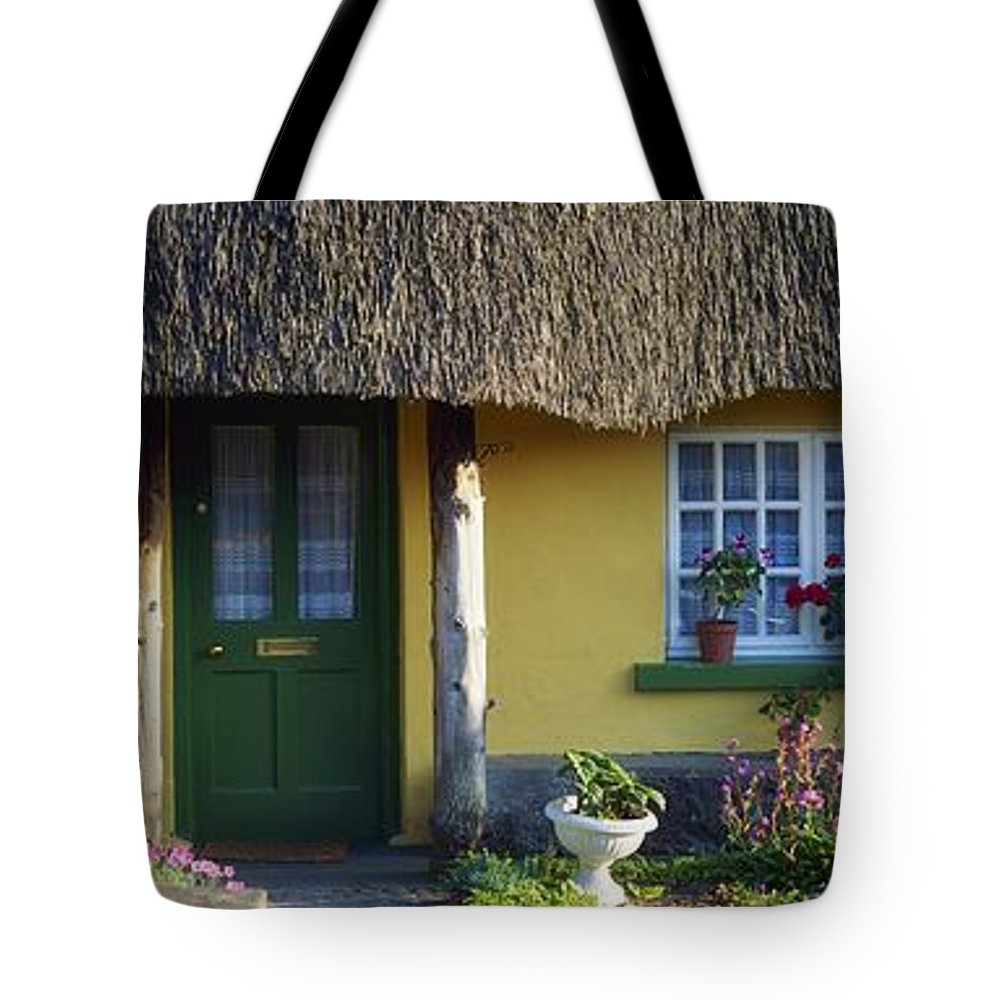 Architecture Tote Bag featuring the photograph Thatched Cottage, Adare, Co Limerick by The Irish Image Collection
