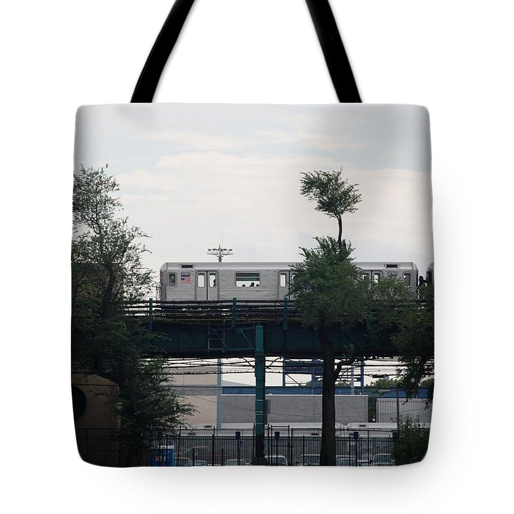 Black And White Tote Bag featuring the photograph The 7 Line by Rob Hans
