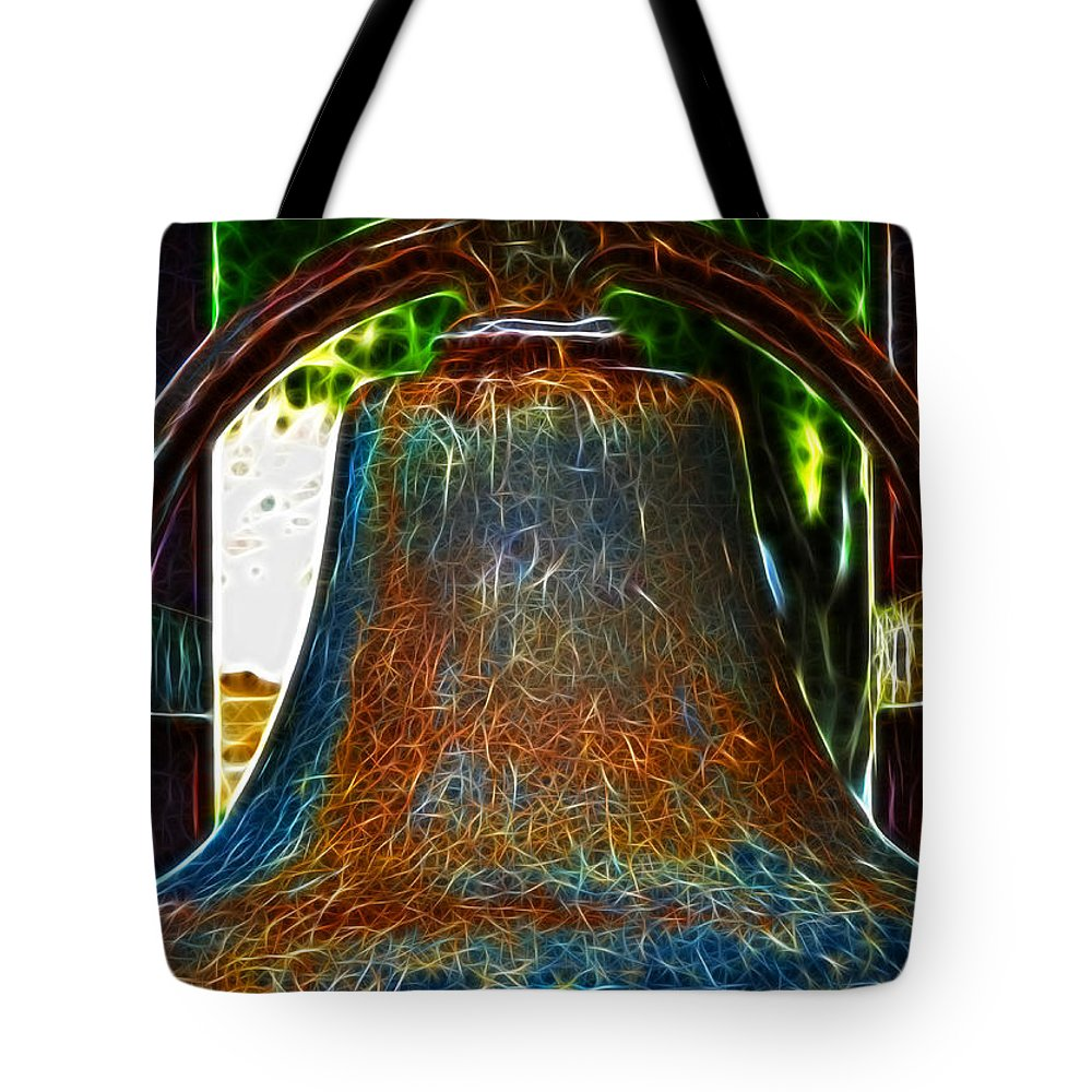 Fine Art Photography Tote Bag featuring the photograph The Academy Bell Fractal by Donna Greene
