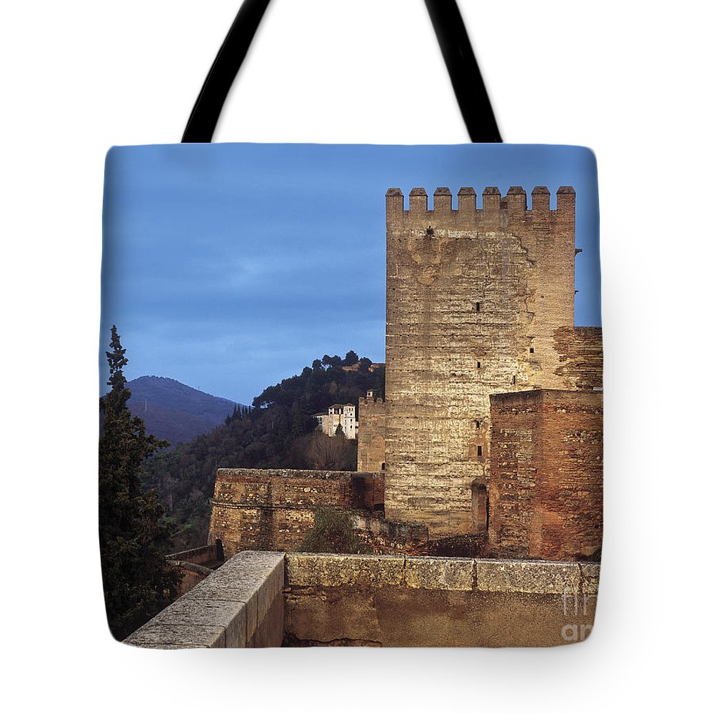 Alhambra Tote Bag featuring the photograph The Alcazaba The Alhambra by Guido Montanes Castillo