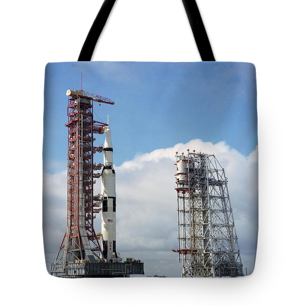 1969 Tote Bag featuring the photograph The Apollo 12 Space Vehicle At Kennedy by Stocktrek Images