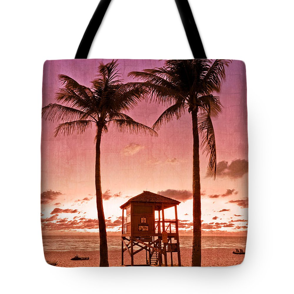 Clouds Tote Bag featuring the photograph The Beach by Debra and Dave Vanderlaan