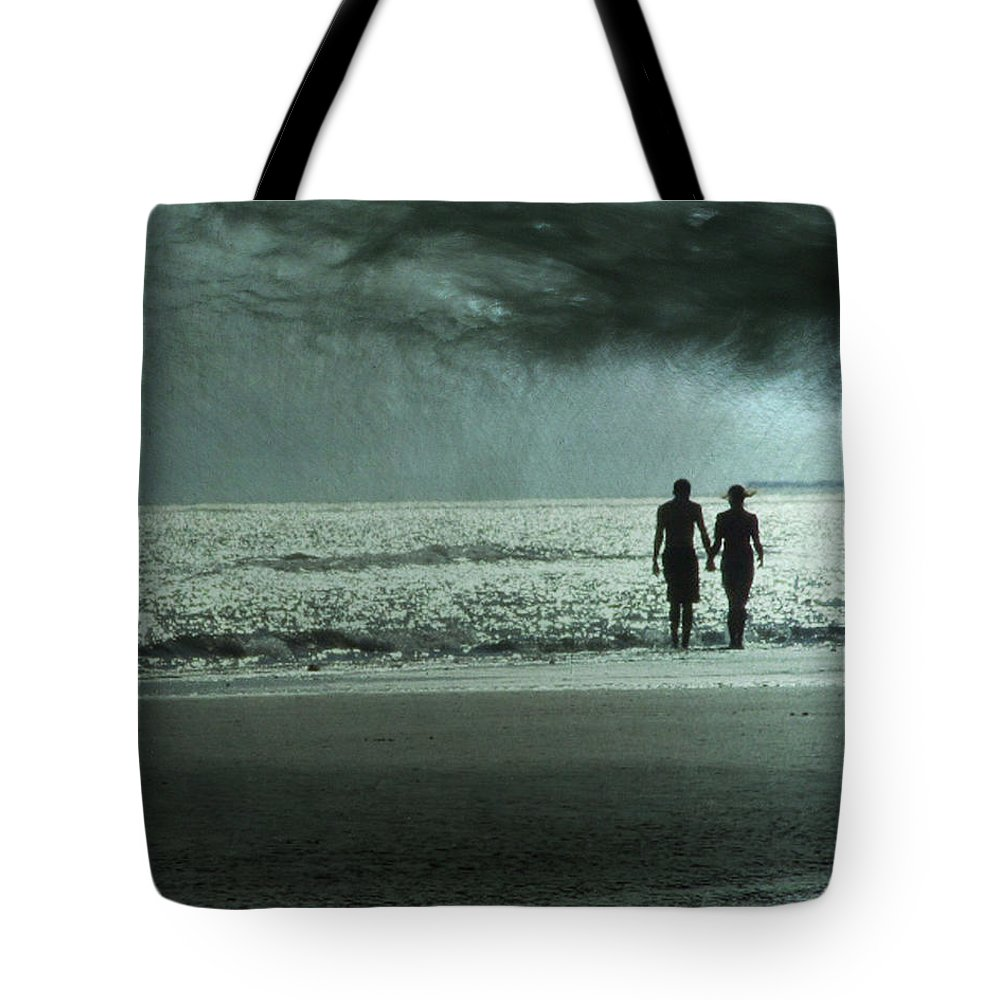 Beach Tote Bag featuring the photograph The Beachcombers by Amy Tyler