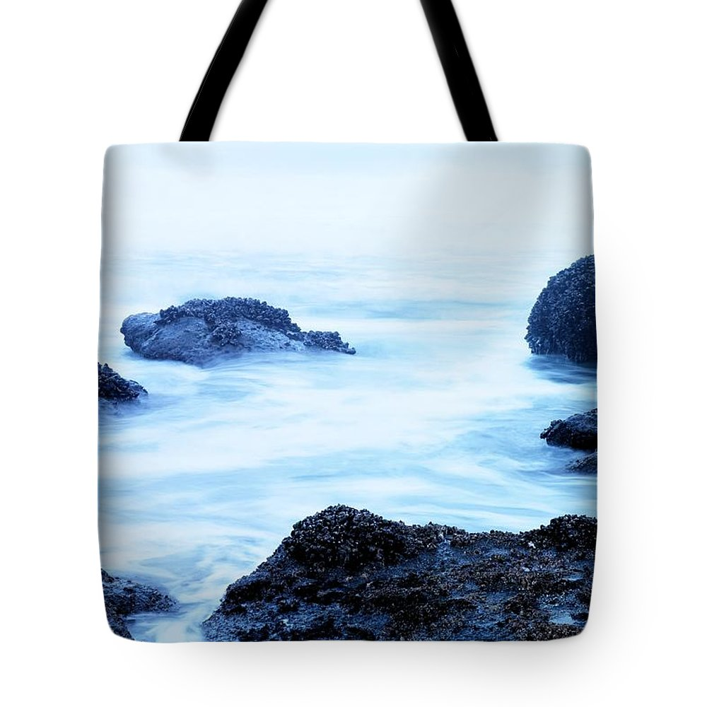 Ocean Tote Bag featuring the photograph The Beautiful Brine Unsettled by Jeff Swan