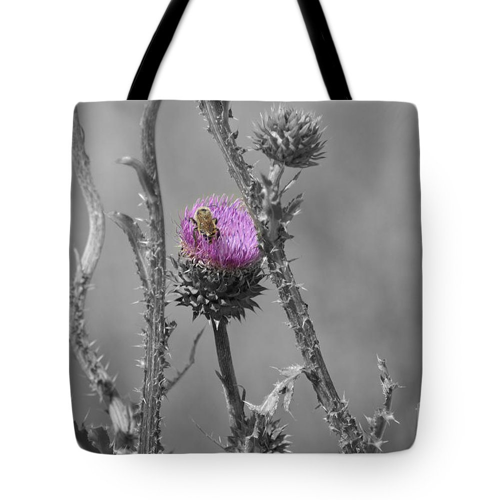 Fine Art Tote Bag featuring the photograph The Bee Matters by Donna Greene