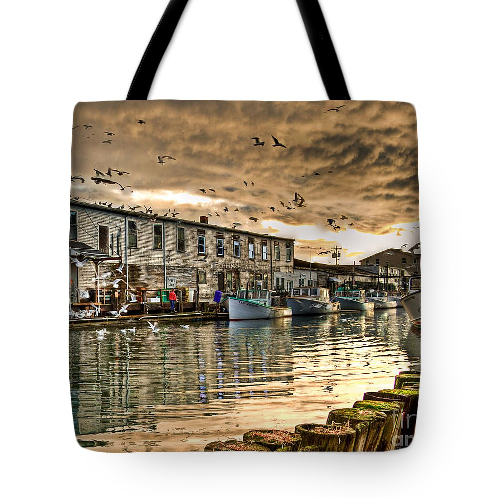 Portland Tote Bag featuring the photograph The Birds by Brenda Giasson