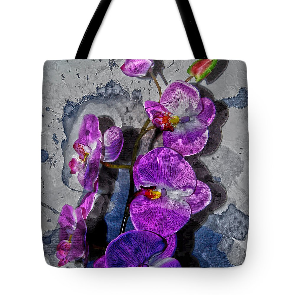 Jerry Cordeiro Framed Prints Tote Bag featuring the photograph The Blue Orchid by The Artist Project