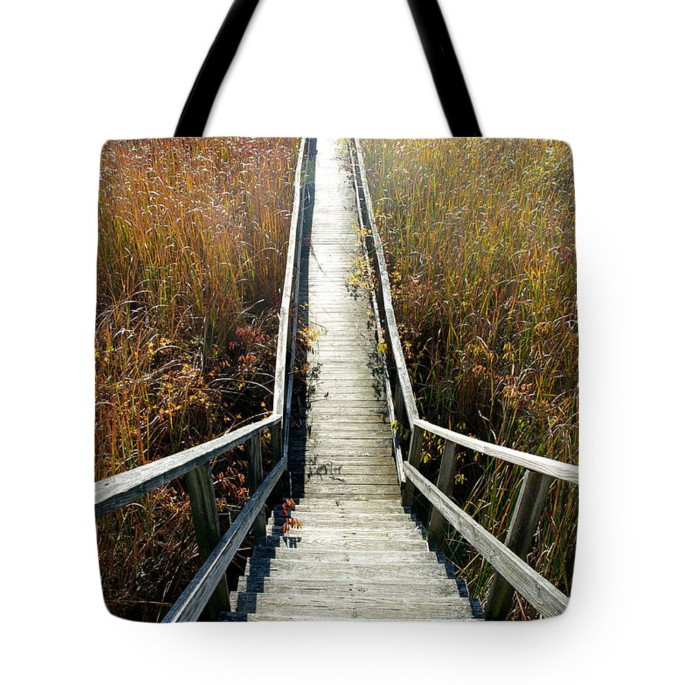 Boardwalk Tote Bag featuring the photograph The Boardwalk by Jenny Gandert