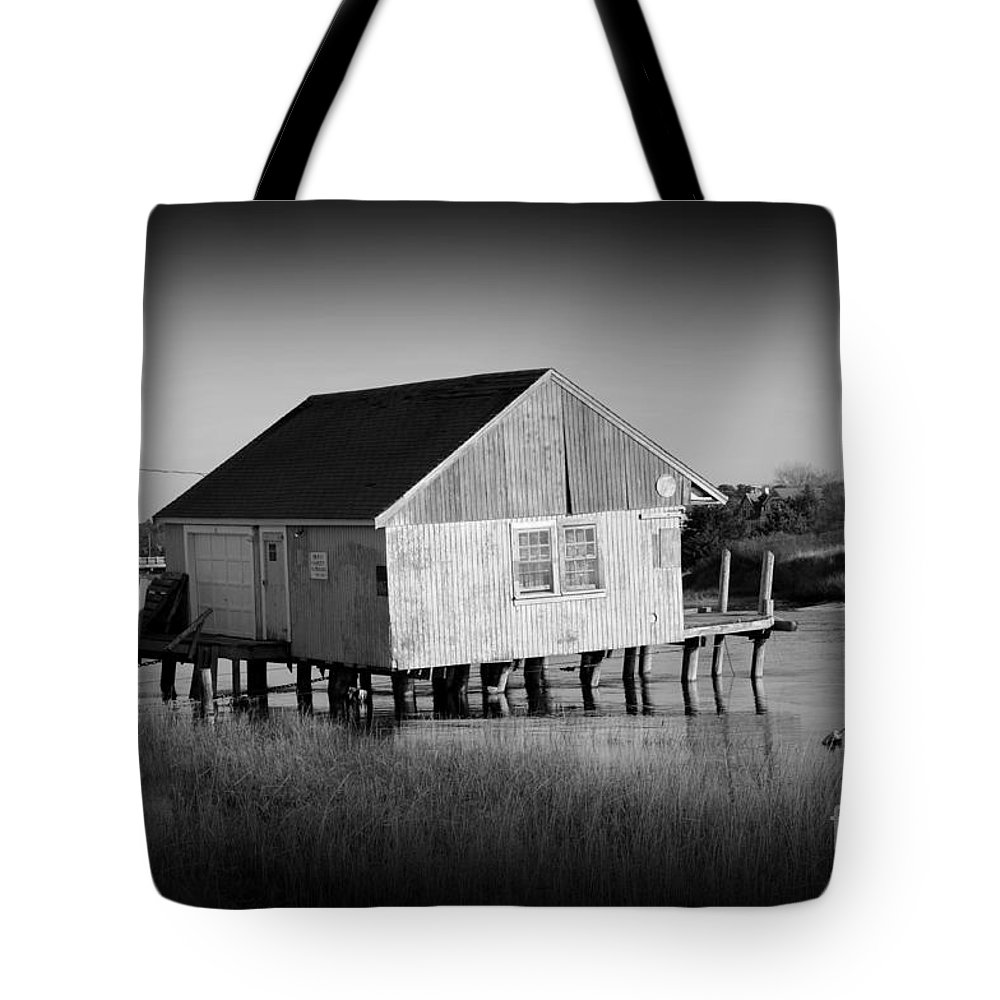 Boathouse Tote Bag featuring the photograph The Boathouse by Luke Moore