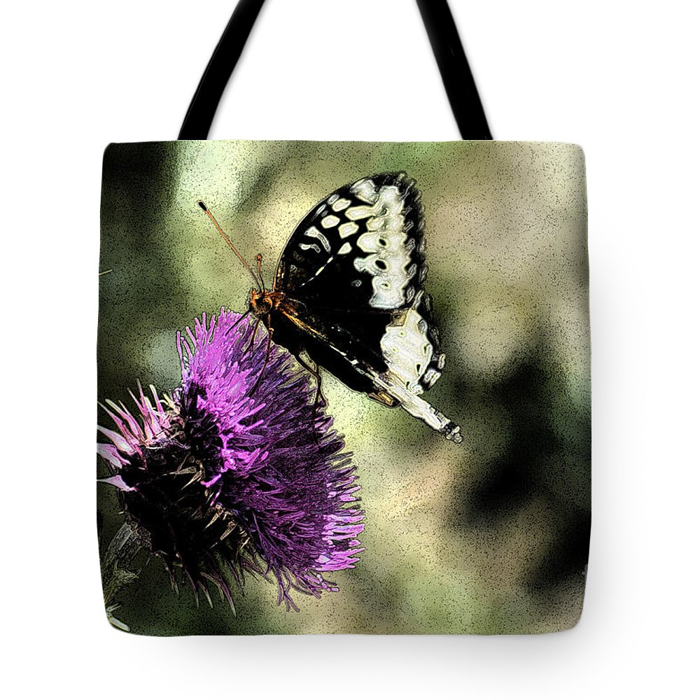 Fine Art Tote Bag featuring the photograph The Butterfly II by Donna Greene