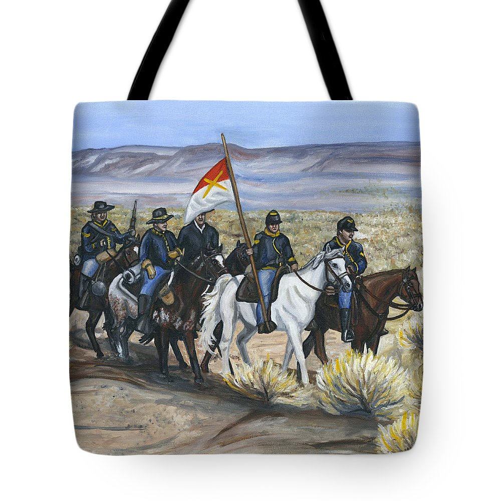 Cavalry Tote Bag featuring the painting The Cavalry by Holly Lenz