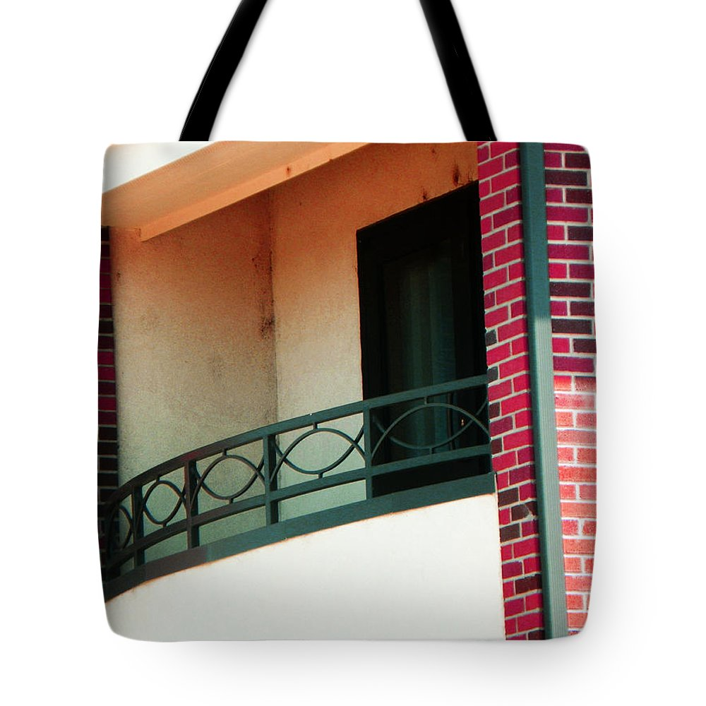 Abstract Tote Bag featuring the photograph The Church Balcony by Lenore Senior