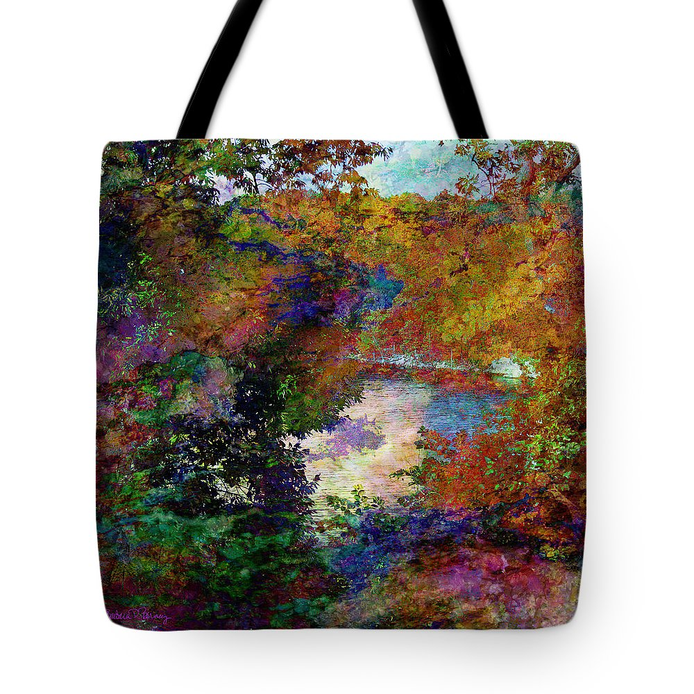 Table Rock Tote Bag featuring the digital art The Clearing by Barbara Berney