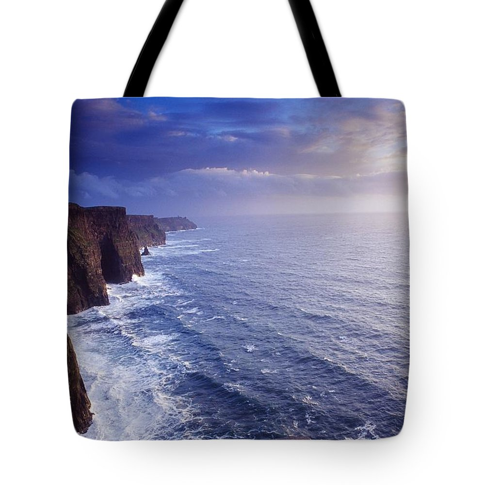 Attraction Tote Bag featuring the photograph The Cliffs Of Moher, County Clare by Gareth McCormack